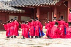1 November 2014, Seoel, Zuid-Korea: Jeryeceremonie in Jongmyo-Heiligdom Stock Afbeeldingen