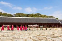 1 November 2014, Seoel, Zuid-Korea: Jeryeceremonie in Jongmyo-Heiligdom Stock Foto
