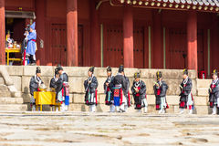 1. November 2014 Seoul, Südkorea: Jerye-Zeremonie in Jongmyo-Schrein Lizenzfreies Stockbild