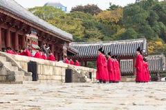 1 November 2014, Seoul, South Korea: Jerye ceremony in Jongmyo Shrine. 1 November 2014, Seoul, South Korea: Jerye ceremony held twice per year in Jongmyo Shrine Stock Photo