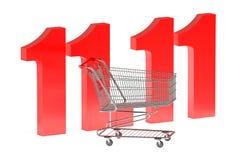11 november Shopping Day concept. Isolated on white background stock illustration
