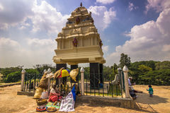 November 10, 2014: Shrine at the botanical gardens of Bangalore, Stock Photo