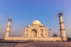 November 02, 2014: Sideview of the Taj Mahal in Agra, India Royalty Free Stock Images