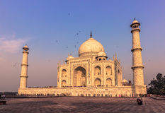 02 november, 2014: Sideview van Taj Mahal in Agra, India Royalty-vrije Stock Fotografie