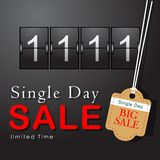 November 11 Singles Day Sale. Single Day Abstract. Vector and Illustration, EPS10 vector illustration