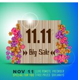 November 11 Singles Day Sale. Single Day Abstract. Vector and Illustration, EPS10 stock illustration