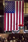 NOVEMBER 7, 2016, SJÄLVSTÄNDIGHETKORRIDOR, PHIL , PA - Hillary Clinton Holds Election Eve Get, ut som rösta samlar med Bruce Spri Arkivfoton