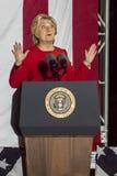 NOVEMBER 7, 2016, SJÄLVSTÄNDIGHETKORRIDOR, PHIL , PA - Hillary Clinton Holds Election Eve Get, ut som rösta samlar med Bruce Spri Royaltyfria Foton