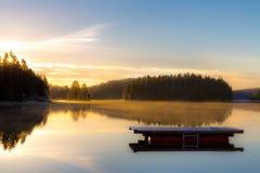 November soluppgång royaltyfri fotografi