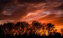 November - a sunset Stock Photo