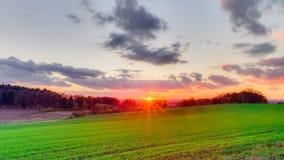 November Sunset Royalty Free Stock Image