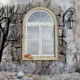 November-Szene mit Fenster Lizenzfreie Abbildung