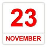 23. November Tag auf dem Kalender Lizenzfreie Stockfotografie