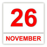 26. NOVEMBER Tag auf dem Kalender Stockbilder