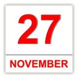 27. November Tag auf dem Kalender Stockbild
