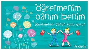24 November Teachers Happy Day. Stock Photography