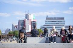 2015 - 11. November Tennoji-Park im Herbst Lizenzfreies Stockbild