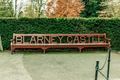 November 17th, 2017, Blarney, Ireland - Bench outside Blarney Castle Stock Photos