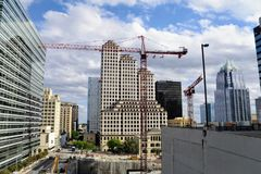 Heavy Duty Tower Construction Crane royalty free stock photography