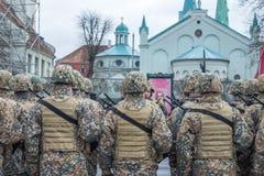 November 18th Independence Parade in Latvia. Royalty Free Stock Image
