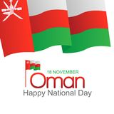 November 18th Sultanate of Oman . National Day. Celebration republic, graphic for design elements. vector view of the city the capital of Oman, Mascat stock illustration