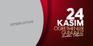 November 24th Turkish Teachers Day, Billboard Design. Turkish: November 24, Happy Teachers` Day. TR: 24 Kasim Ogretmenler Gununuz