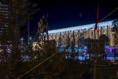 Tirana holidays decoration royalty free stock photo