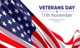 11. November - Veteranen-Tag Alle ehren, die dienten stock abbildung