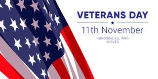 11 november - Veteranendag Erend iedereen wie dienden stock illustratie