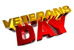 November 11,Veterans` Day. Veterans` Day,veterans signs gold day red white background royalty free illustration