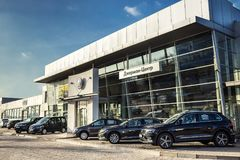 16 of November - Vinnitsa, Ukraine. Showroom of Volkswagen VW royalty free stock photo