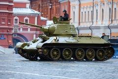05 NOVEMBER, 2016: Volledig-kledingsrepetitie van de parade, gewijd aan 7 November, 1941 op Rood Vierkant in Moskou Royalty-vrije Stock Foto