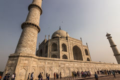 02 november, 2014: Voorgevel van Taj Mahal in Agra, India Stock Foto's