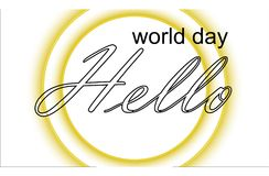 World day hello on the sunny planet Royalty Free Stock Image