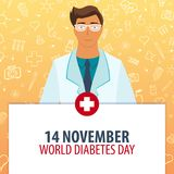 14 november. World Diabetes day. Medical holiday. Vector medicine illustration. 14 november. World Diabetes day. Medical holiday. Vector medicine illustration stock illustration