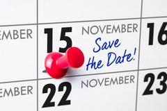 15 novembre Photo stock