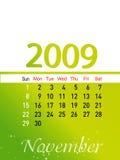 Novembre 2009 illustration stock