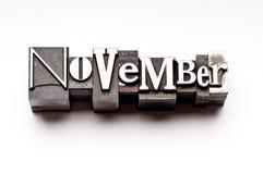 Novembre Immagini Stock