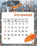 Novembre illustration de vecteur