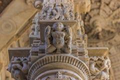 8 novembre 2014 : Détail d'art des murs découpés du te Jain Image stock
