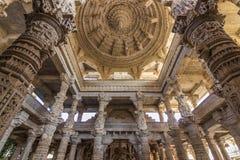 8 novembre 2014 : Détails du plafond du temple Jain de Photographie stock