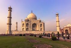2 novembre 2014 : Entrée à Taj Mahal à Âgrâ, Inde Photographie stock libre de droits