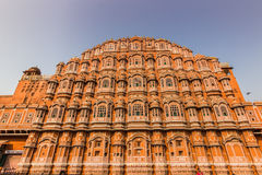 4 novembre 2014: Facciata del palazzo dei venti a Jaipur, Fotografia Stock