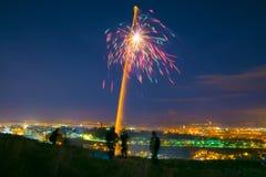 5 novembre fuochi d'artificio Fotografia Stock