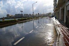 7 novembre - giorno del ciclone Mediterraneo a Malta Fotografia Stock Libera da Diritti