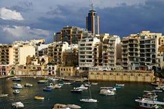 7 novembre - giorno del ciclone Mediterraneo a Malta Fotografia Stock
