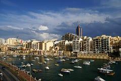 7 novembre - giorno del ciclone Mediterraneo a Malta Fotografie Stock Libere da Diritti