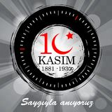 10 novembre, illustration d'Ataturk Memorial Day Image stock