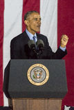 7 NOVEMBRE 2016, INDIPENDENZA CORRIDOIO, PHIL , PA - presidente Barack Obama parla a Hillary Clinton Election Eve Get Out il Ra d Fotografie Stock