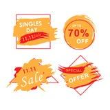 11 novembre insegna di vendita d'avanguardia illustrazione di stock